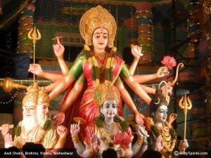 Aadi Shakti, Brahma, Vishnu, Maheshwar