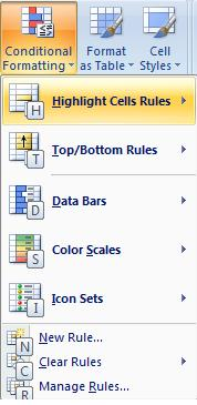 Conditional Formatting - MS Excel 2007