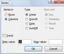 Excel Series Step 2