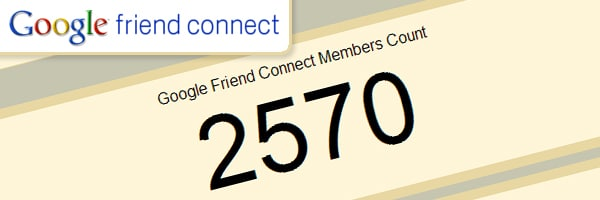 Google Friend Connect Members Count