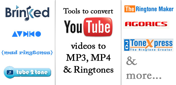 Ways to Convert Youtube Videos to MP3, MP4 or Ringtones