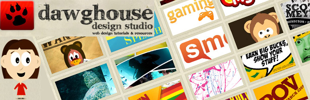 Dawghouse Design Studio   Web Design, Graphic Design, Photoshop Tutorials, Freebies, Resources, Inspiration