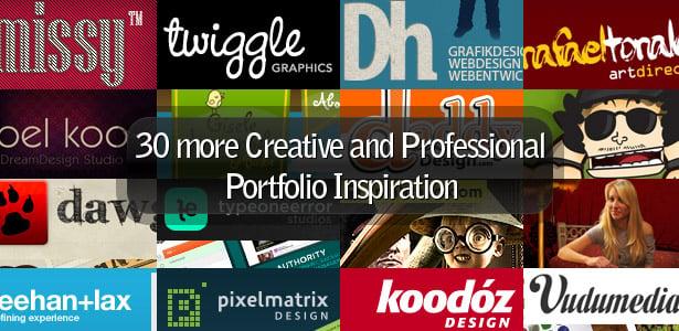 30 more Creative and Professional Portfolio Inspiration