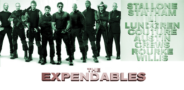 THE biggest action film from Hollywood, THE EXPENDABLES