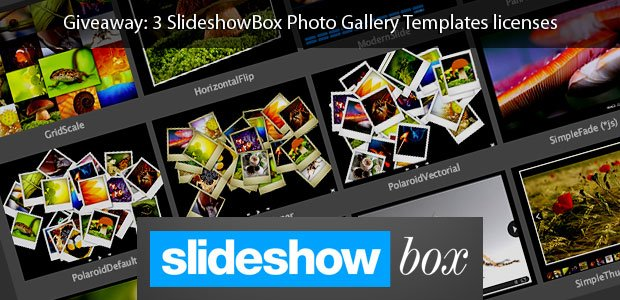 Giveaway: 3 SlideshowBox Photo Gallery Templates licenses