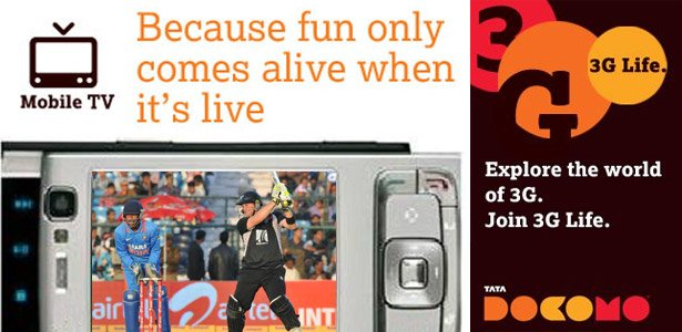Watch India - New Zealand One-day series Live Cricket with Tata Docomo's 3G Service
