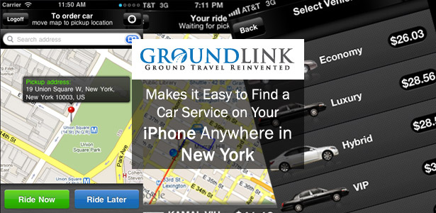 GroundLink makes it easy to find a Car Service in New York with their iPhone App