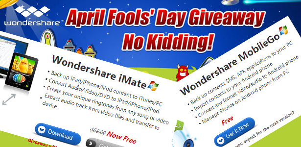 No Kidding! Wondershare Gives Away Cool Software on April Fools' Day