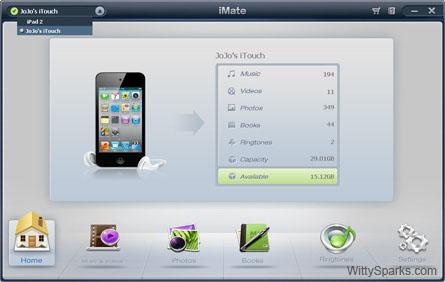 Wondershare - iMate main interface!