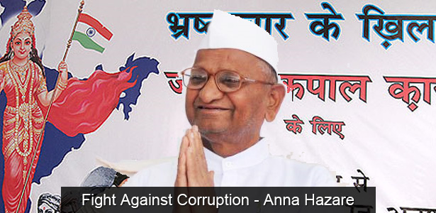 Fight against corruption in INDIA - Anna Hazare