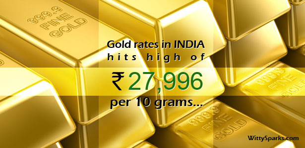 Gold Price hit records in INDIA