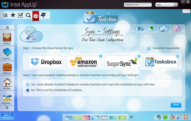 Intel AppUp - TasksBox Pro Desktop Application