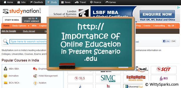 Online Education in Present Scenario