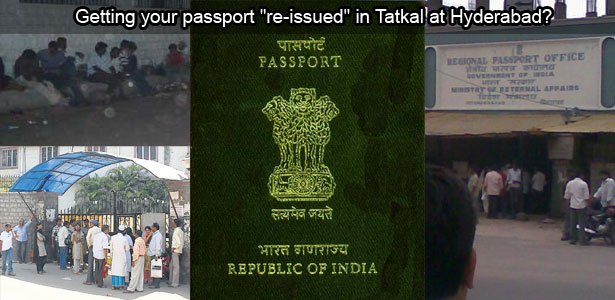 """Getting your passport """"re-issued"""" in Tatkal at Hyderabad, Andhra Pradesh, India"""