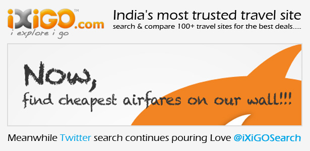 Now search for the cheapest flights on Facebook and Twitter