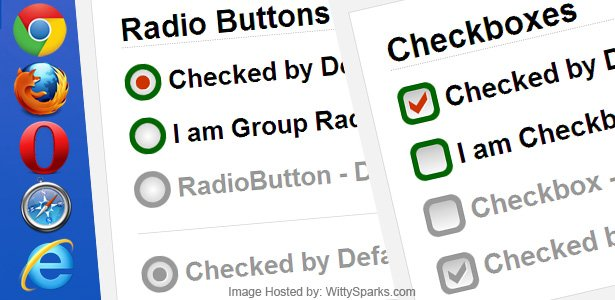 Pure CSS3 Custom Checkbox and Radio buttons with Sprite Image