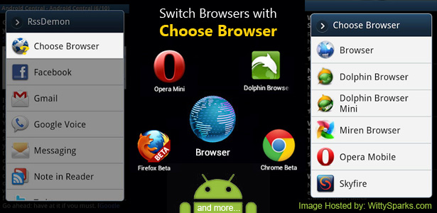 Choose Browser - Android Mobile and Tablet Application