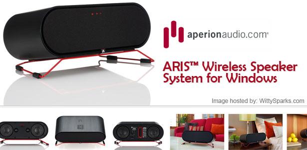 "NEW! ARISâ""¢ Wireless Speaker System for Windows"