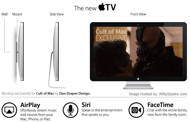 Apple HDTV or iTV Prototype by Dan Draper Design for Cult of Mac