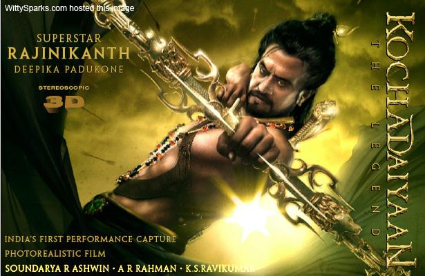 Rajinikanth's 3D Movie Kochadaiyaan