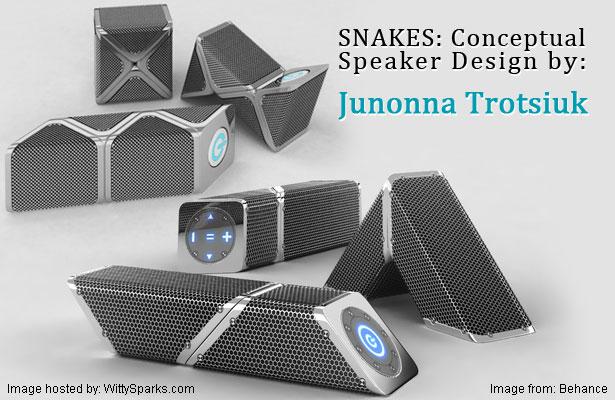 """Portable speakers """"Snakes"""" by Junonna Trotsiuk"""