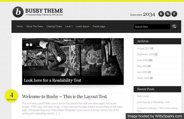 Busby, Free WordPress Personal Blog Theme