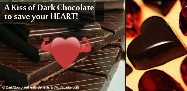 Take a bite of Dark Chocolate everyday to keep your Heart Healthy!