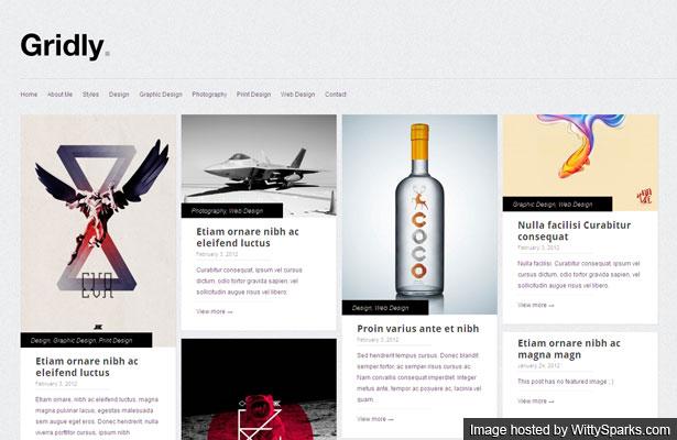 Gridly - Folio WordPress Theme, a free minimal & responsive portfolio theme