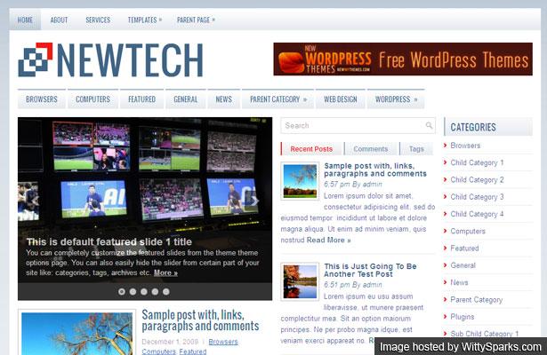 NewTech - A Theme for a tech website