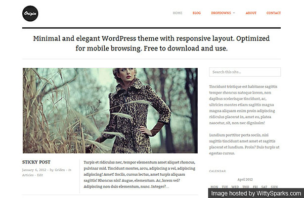 Origin - A simple responsive theme