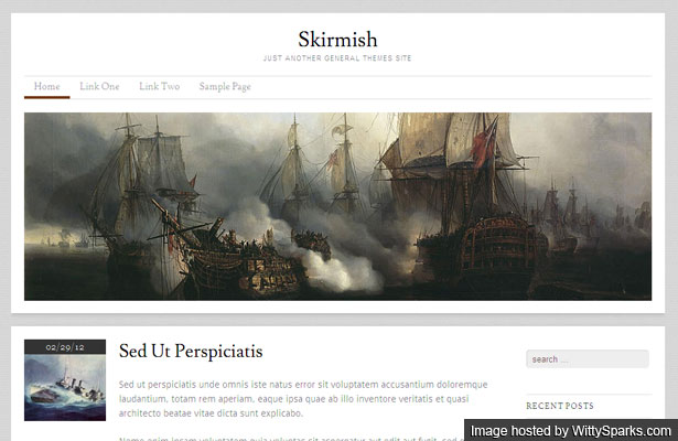 Skirmish - an elegant responsive wordpress themes