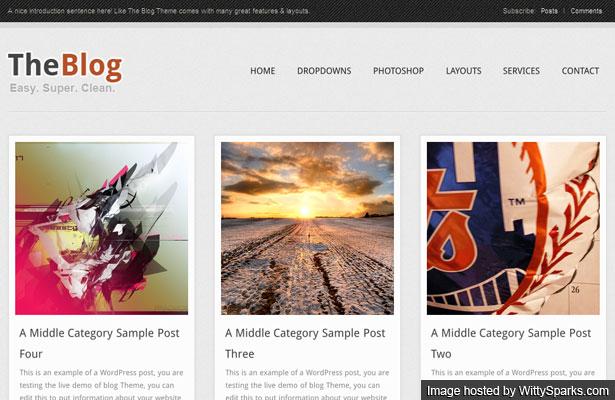 The Blog Free Premium WordPress Theme