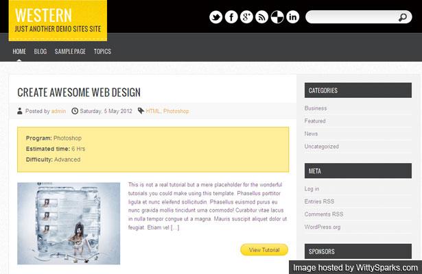 Western is a premium Free WordPress theme for tutorial sites