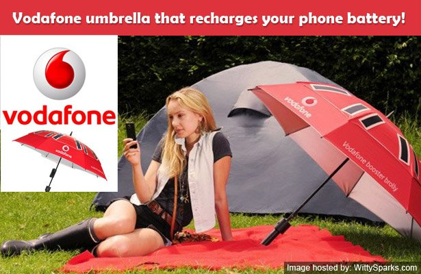 Now recharge your phone battery with the help of an umbrella that works on solar energy - Vodafone