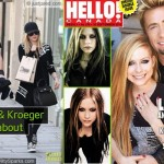 Lavigne showing off her ring on the cover of Hello Magasine (Canada)