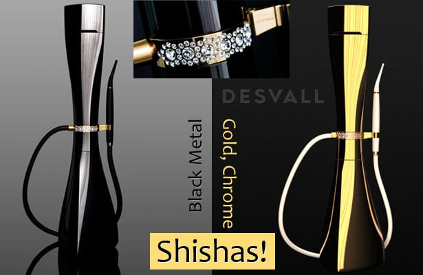 Desvall's - A variety of Shisha's - Gold, Chrome and Black Metal!