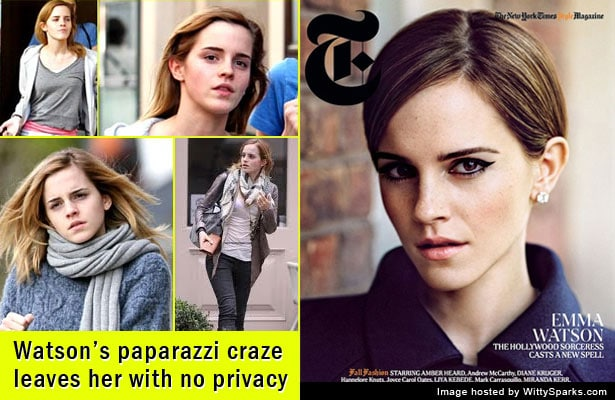 Emma Watson's paparazzi craze leaves her with no privacy