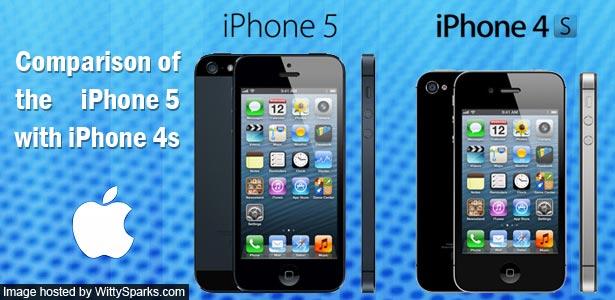Comparison - iPhone5 Vs iPhone4s