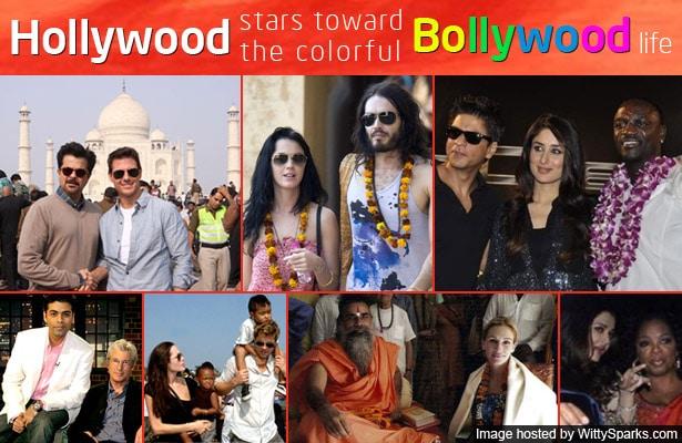 Hollywood stars toward the colorful Bollywood life!
