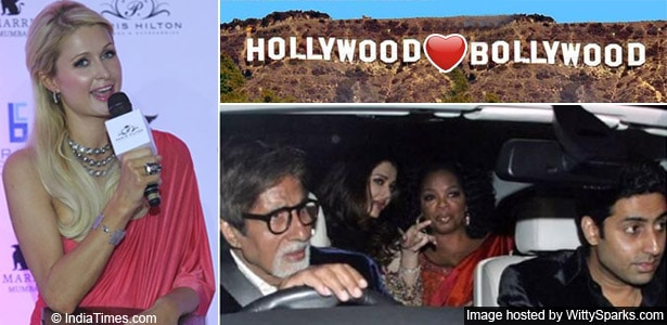 Oprah Winfrey with the Bachchans and Paris Hilton Launching her Bag line in India