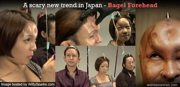 Bagel Forehead - A scary new trend in Japan!