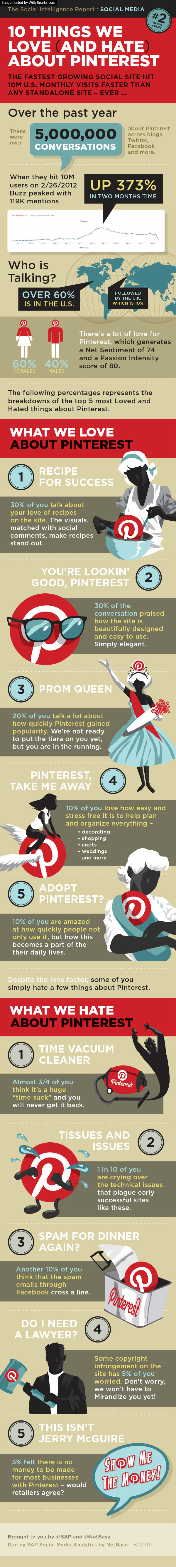 10 Things we love and hate about Pinterest - infographic