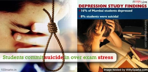 Students commit suicide in India over exam stress and failing