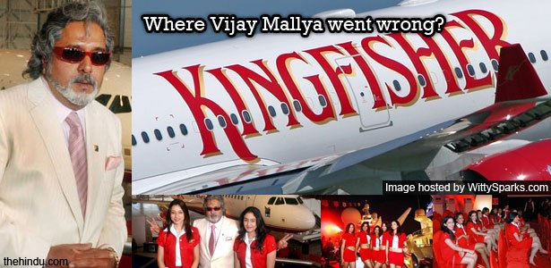 Chairman Vijay Mallya showing peace signs, ironic since the airlines is looking at its end!