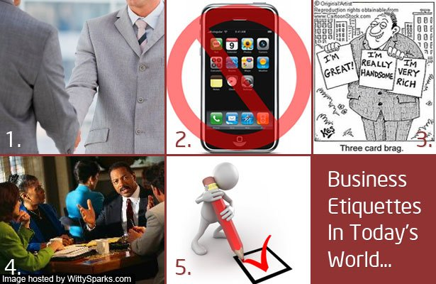 Business etiquettes in today's world