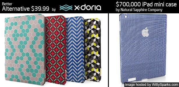 Natural Sapphire Company presents $700,000 iPad mini case and Cheaper alternative is $39.99 at X-Doria.com