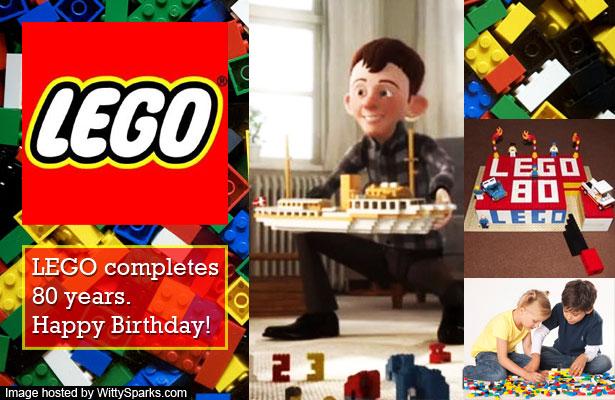 Lego completes 80 years - Happy Birthday LEGO