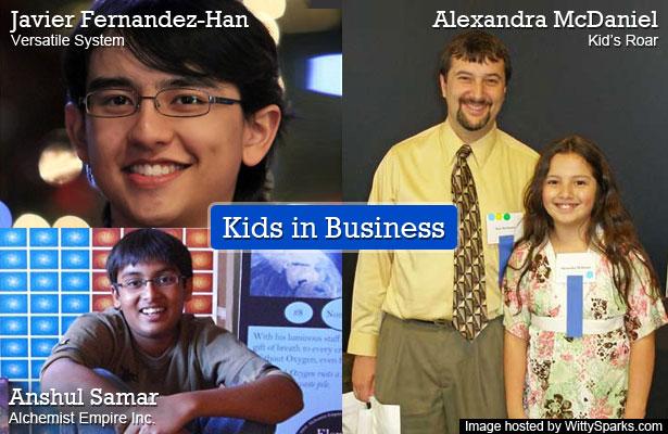 Kids in Business - Javier Fernandez-Han, Anshul Samar, Alexandra McDaniel