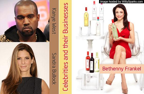 Celebrities and their Businesses - Bethenny Frankel, Kanye West, Sandra Bullock