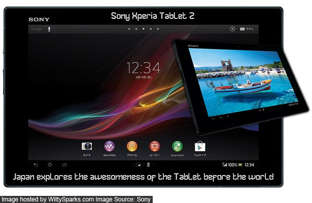 Japan explores the awesomeness of the Tablet before the world - Sony Xperia Tablet Z